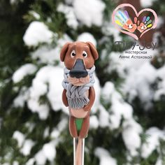 """Пёс в комплект к кружке с волком из мультфильма """"Жил- был пёс"""". (800₽ за чайную ложку) #пес #мультик ##ложкасдекором #polymerclay #fimo #handmade #вкусные_ложки #хэндмейд #творчество #рукоделие #уют #вкусныеложки #ложки #арт #подарок #полимернаяглина #ручнаяработа #clay #ложканазаказ #artwork"""