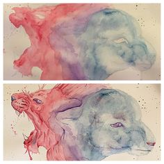 The Lion and the Lamb by FadedFoxArt on Etsy