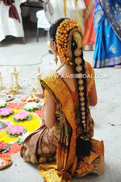 Bride performing pooja