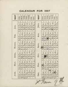 """Calendar 1897."" 189"