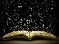 Book iPad wallpaper Flying Letters