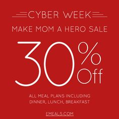 Save 30% with code Cyber and an EMEALS GIVEAWAY!