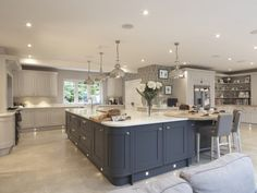 Creating Your Dream Kitchen Fall back in love with your kitchen with the Laura Ashley Kitchen Collection Open Plan Kitchen Living Room, Two Tone Kitchen, Kitchen Dining Living, Home Decor Kitchen, New Kitchen, Home Kitchens, Kitchen Ideas, Kitchen Images, Awesome Kitchen