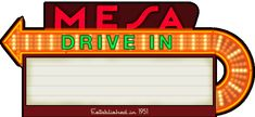 Welcome to the official website of The MESA Drive-In Theater. Established in 1951 in Beautiful Pueblo, Colorado. When the lights go out… the fun begins!