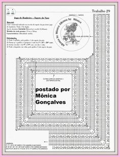 Alkimia: JOGO DE BANHEIRO DE CROCHÊ COM GRÁFICO