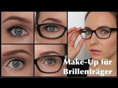 Make-Up für BRILLENTRÄGER / Augen größer/kleiner schminken - YouTube
