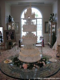 """Magnificent """"Cinderella's Castle"""" wedding cake from the skilled artists at Disney's Fairytale Weddings...."""