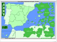Test yourself with this interactive map, you have to choose the right answer . Spanish Teacher, Spanish Classroom, Teaching Spanish, Teacher Lesson Plans, Teacher Tools, Murcia, Asturias Spain, Spanish Culture, Interactive Map