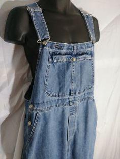 eba55dcaac0 Vtg Lee Overalls Sz LP 10 Farmer Jeans Blue Denim Carpenter Dungarees Made  USA  Lee  VintageCarpenterOveralls