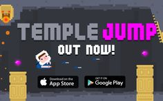 Temple Jump is a good waiting in line sort of game.  Temple Jump from Nexx Studios (not to be confused with Temple Run, which is completely different) is a fun, easy mobile game for iOS. Its