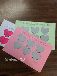 Schoolhouse Talk!: Valentine's Scratch-Off Cards {FREEBIE} - Repinned by @PediaStaff – Please Visit  ht.ly/63sNt for all our pediatric therapy pins