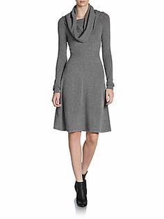 Cowlneck Sweater Dress