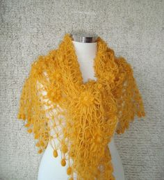 Check out this item in my Etsy shop https://www.etsy.com/listing/177843127/mustard-yellow-cashmere-mohair-triangle