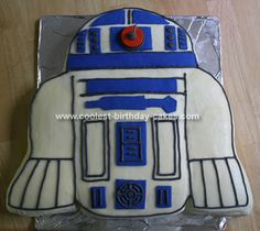R2D2 Cake: I am not a cake maker and when I found out the girl who usually makes my cakes was on vacation - I decided not to buckle under pressure!  I was not about