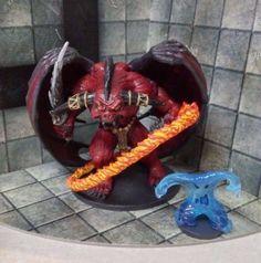 Custom Painted Errtu Balor Demon - Legend of Drizzt Adventure Miniature