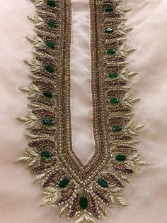 Call/Whatsapp on 9828027477 to order these Hand Embroidered Materials. All Customization Available. Zardosi Embroidery, Hand Embroidery Dress, Kurti Embroidery Design, Bead Embroidery Patterns, Couture Embroidery, Silk Ribbon Embroidery, Embroidery Fashion, Hand Embroidery Designs, Clothes Crafts
