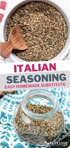 Save a trip to the store! Mix up a batch of Italian seasoning substitute using dried herbs and spices you probably already have in your pantry — 2 minutes and done! There are so many uses for this easy Italian seasoning substitute. Its savory blend is delicious sprinkled on meats or roasted vegetables, as well as in a variety of vinaigrettes, sauces, soups, and stews. Homemade Spice Blends, Homemade Spices, Homemade Seasonings, How To Dry Oregano, How To Dry Basil, Italian Pasta Recipes, Easy Pasta Recipes, Pasta Salad Recipes