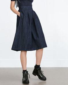"Image 2 of ""ESSENTIALS"" FULL SKIRT from Zara"