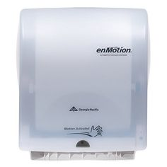 Georgia Pacific Enmotion 59407 Classic Automated Touchless Paper Towel Dispenser, Translucent White #Georgia #Pacific #Enmotion #Classic #Automated #Touchless #Paper #Towel #Dispenser, #Translucent #White