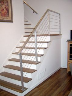 Before and After: Tandemracer's Stairs modern railing