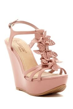 DbDk Fashion Derrna Floral Wedge Sandal