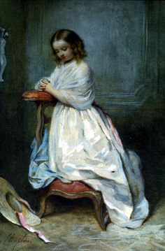 Charles Chaplin (1825-1891) Girl in White Dress.