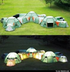Awesome Tents That Zip Together. & Modular POD tents connect to create multi-room camping getaways ...
