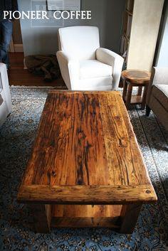 Reclaimed Wood Coffee Table HD Threshing Floor Furniture www.hdthreshing.com