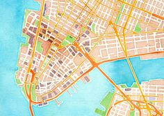 San Francisco-based design and technology studio Stamen Design created this beautiful interactive watercolor map. It is based on data from OpenStreetMap.