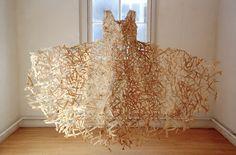 ℘ Paper Dress Prettiness ℘ art dress made of paper by Christine Elfman Paper Fashion, Fashion Art, Paper Clothes, Paper Dresses, Barbie Clothes, Art Textile, Textiles, Mode Inspiration, Fashion Inspiration
