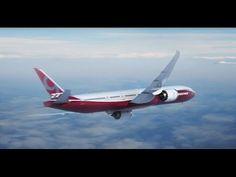 Με αναδιπλώμενα φτερά και αυτονομία καυσίμων το Boeing 777x (video)