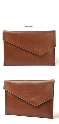 Accessories :: Bags :: Modern Minimal Leather Clutch-Bag 49 - Mens Fashion Clothing For An Attractive Guy Look