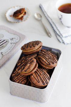 Chocolate and Coffee Sandwich Cookies
