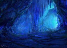 Ice Cave by Tatchit.deviantart.com on @deviantART
