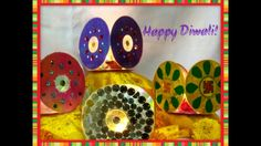 How to protect your diyas/deepam this Diwali with decorative chimney/lanterns made out of CDs or DVDs: wishes you a very happy, prosperous and safe D. How To Make Lanterns, Indian Festivals, How To Protect Yourself, Diwali, Making Out, Decorative Plates, Home Decor, Ideas, Interior Design