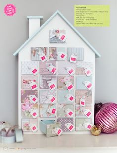 Advent House  as seen in Making Magazine  by Torie Jayne - make mine pastel ?