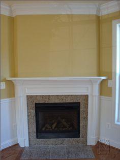 Mantel for Corner fireplace (a lot like mine with window.)