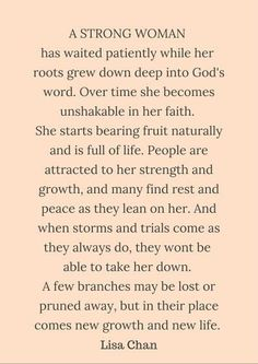 """Eph 3:17 """"...as you trust in Christ. Your roots will grow down deep into God's love and keep you strong"""" Quote by Lisa Chan in her book cowritten with Francis Chan, You and Me Forever: Marriage in the Light of Eternity. Ebook and audio book FREE in the Google play app store. Heather"""