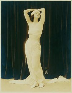 Ruth St Denis in pose and costume for Physical Culture Magazine. (1917)