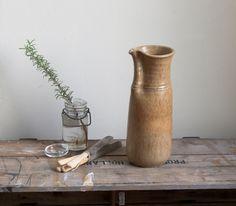 vintage studio pottery carafe by cottagefarm on Etsy
