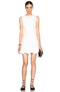 Flounce Hem Shift Dress#VictoriaBeckham