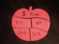 F is for First Grade: Using die cut apples to represent the numbers 1 - 10.