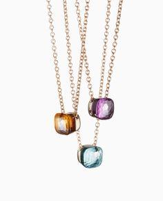 pomellato nudo range pendants with chains Bottle Jewelry, Fine Jewelry, Gemstone Jewelry, Jewelry Necklaces, Jewelry Accessories, Jewelry Design, Bling, Estilo Fashion, Luxury Jewelry