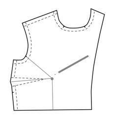 Como ajustar o tamanho da área do busto de um padrão de costura