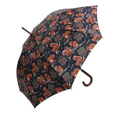 Red Squirrel Umbrella Navy