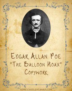 Edgar Allan Poe ~ The Balloon Hoax Copywork