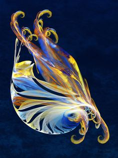 Fractal - Sea Creature Digital Art  - Fractal - Sea Creature Fine Art Print