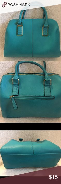 """Mossimo Turquoise Purse with detachable strap. Mossimo Purse with detachable strap.   13 1/2""""wide and Approximately 10"""" long Brand New Bags Shoulder Bags"""
