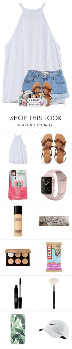 """""""dang, you're perfect."""" by theblonde07 ❤ liked on Polyvore featuring A.L.C., Levi's, Aéropostale, Bare Escentuals, Urban Decay, Anastasia Beverly Hills, Lord & Berry, ZOEVA and NIKE"""
