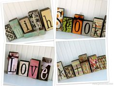 Full Year Wood Block Set Double Sided  Lots of Options  40 BLOCKS by doubledutydecor,